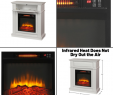 1000 Square Feet Electric Fireplace Lovely White Infrared Electric Fireplace Heater Mantel Tv Stand Media Cent Led Flame