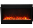 40 Inch Electric Fireplace Insert Awesome Amantii Deep Xt Panorama Black Steel Surround Electric