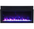 40 Inch Electric Fireplace Insert Unique Amantii Panorama Series Slim Built In Electric Fireplace Bi