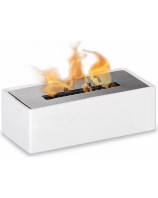 mia white tabletop ventless ethanol fireplace