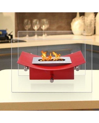 ignis verona ventless bio ethanol tabletop fireplace ttf21 finish red