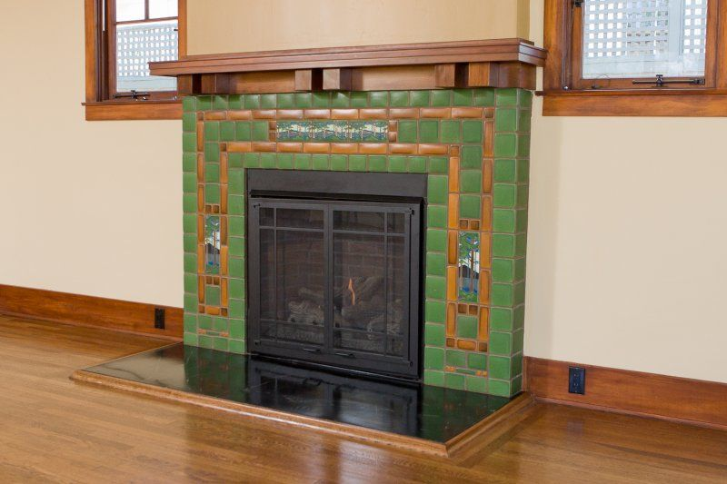 Batchelder Fireplace Inspirational Bespoke Tile Fireplace 1922 Custom Craftsman Home Remodel