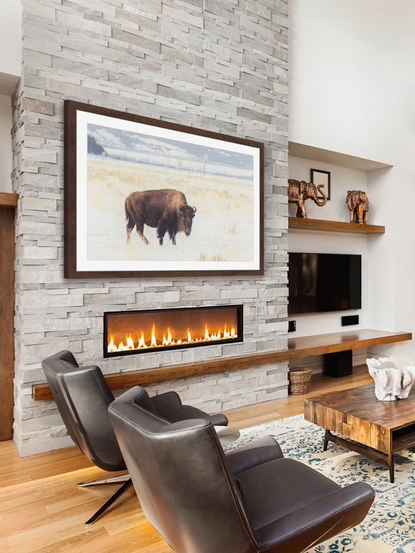 Bellevue Fireplace Unique Curious Beast Graphic Print In 2019