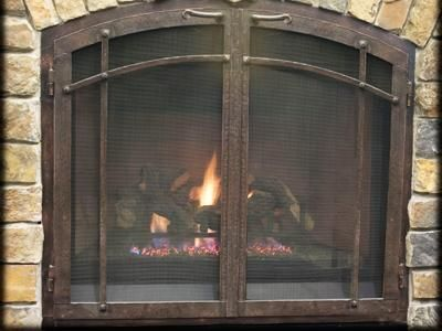 a86fdab5a5ee eefb6b2cd41f161 fireplace glass doors craftsman fireplace