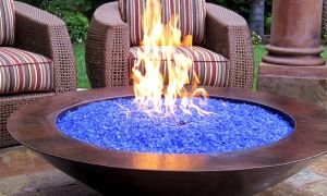 13 Luxury Blue Fireplace Glass