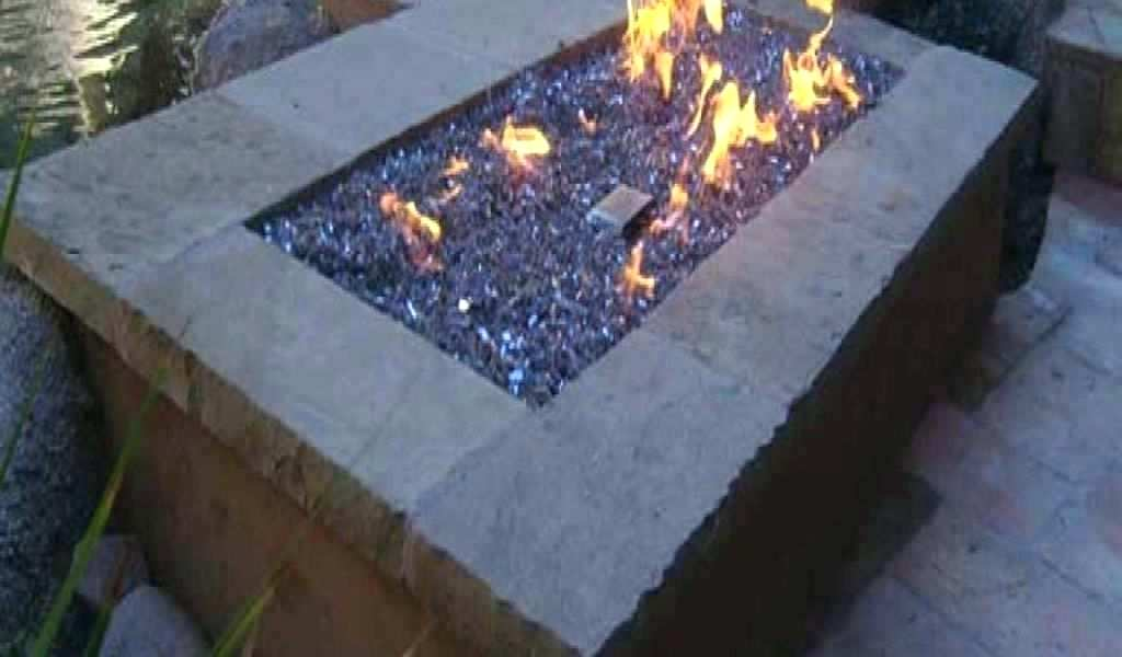 gas fire pit glass by natural rocks beads for awesome burner ring blue outdoor square with