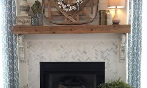 28 Elegant Brick Fireplace Mantel Decor