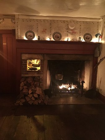 the fireplace room