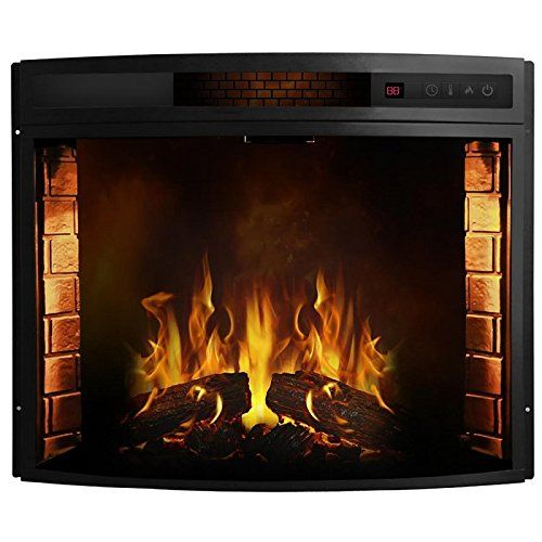 Built In Fireplace Screen Beautiful 26 Inch Curved Ventless Electric Space Heater Built In