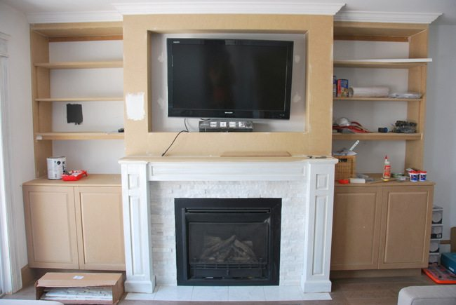 fireplace built in shelving 9 via the sweetest digs