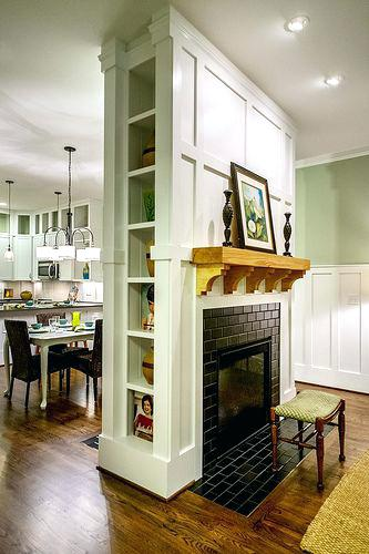 double sided fireplace built ins between two cost
