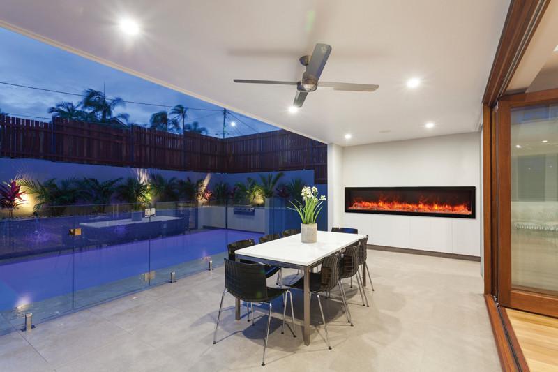 electric fireplace amantii panorama deep 88 built in outdoor electric fireplace w cover bi 88 deep od 2