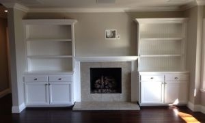 16 Fresh Cabinets Next to Fireplace