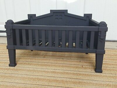 Antique Cast Iron Coal Basket Fireplace Grate Log