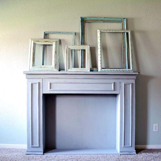 Chalk Paint Fireplace Inspirational Chalk Paint Fireplace Makeover This Faux Fireplace Got