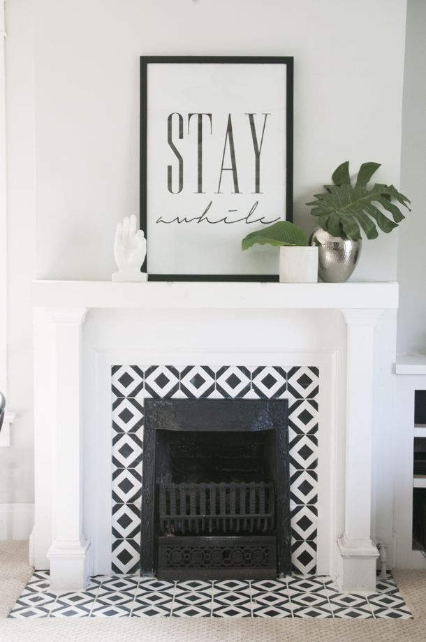 Chalk Paint Fireplace Inspirational Handpainted Tile Fireplace for the Home