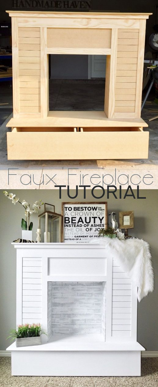 Chalk Paint Fireplace Luxury Faux Fireplace with Hidden Storage Kreatives