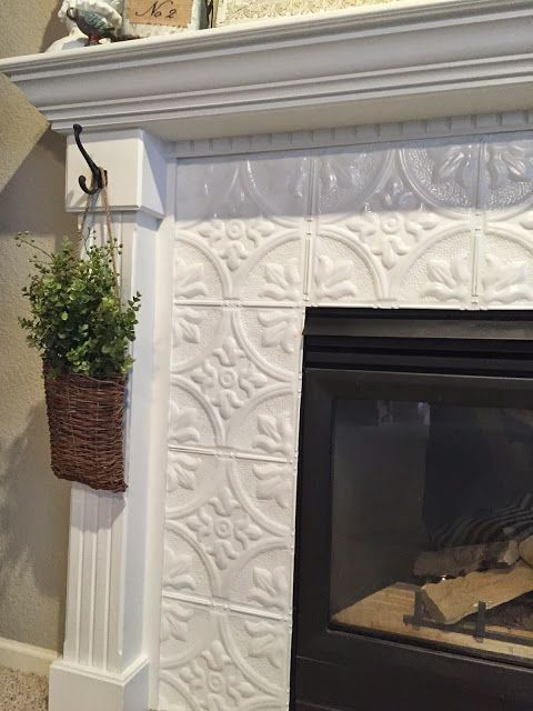 Chalk Paint Fireplace Luxury Fireplace Makeover with Tin Tile Fireplaces
