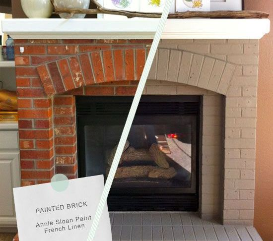 Chalk Paint Fireplace Unique 5 Dramatic Brick Fireplace Makeovers Home Makeover