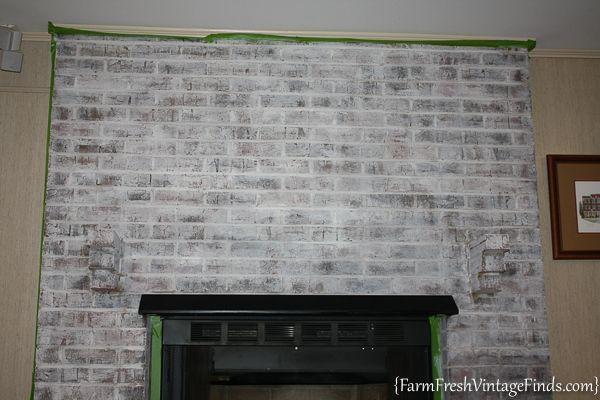 Chalk Paint Fireplace Unique Painting Brick with Debi S Diy Chalk Type Paint Farm Fresh
