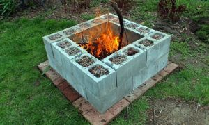 23 Awesome Cinderblock Outdoor Fireplace