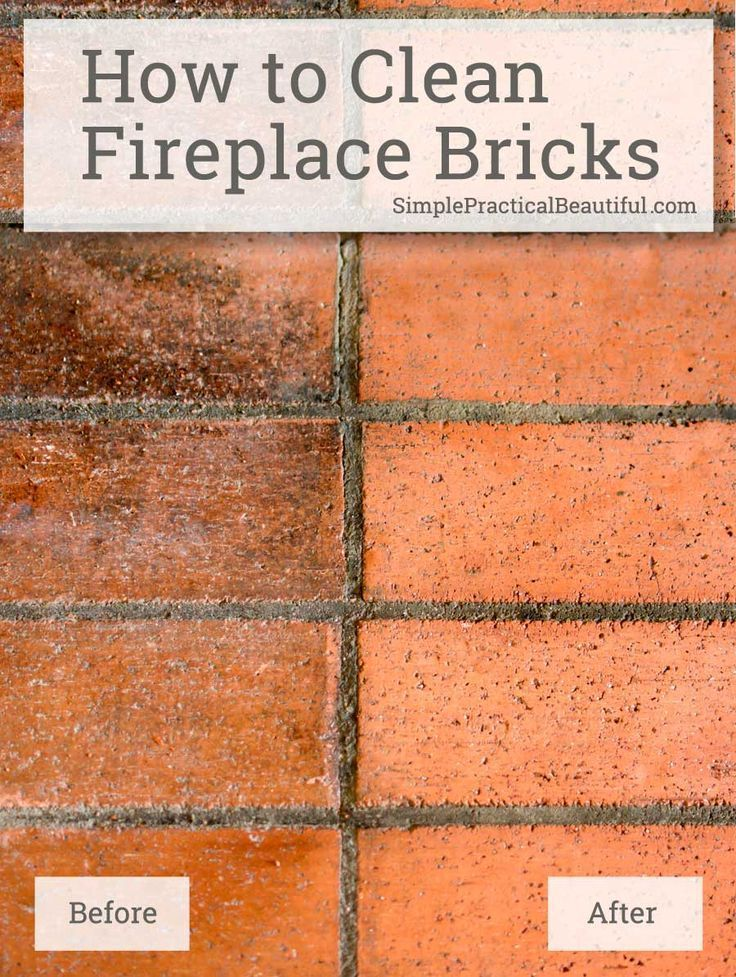 Clean Fireplace Brick Lovely How to Clean Fireplace Bricks Cleaning the House