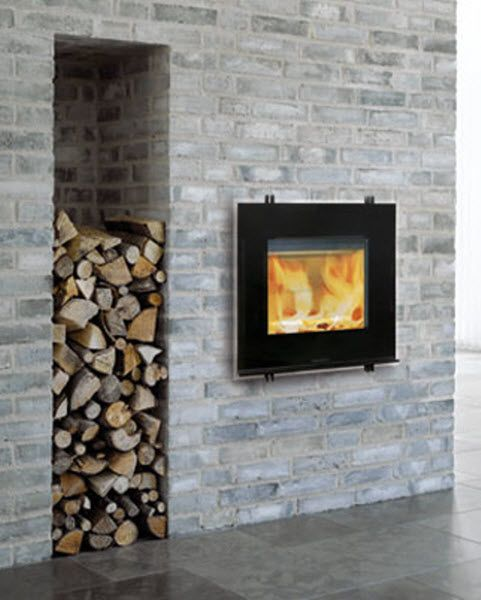 Contemporary Fireplace Insert New Contemporary Built In Wood Burning Stove I Love the