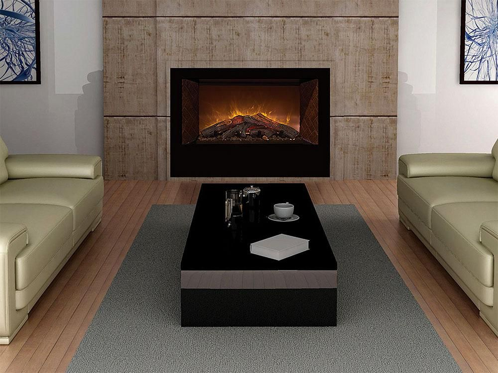 "Contemporary Fireplace Insert New Modern Flames Home Fire Conventional 42"" Electric"