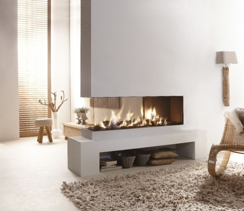 Contemporary Gas Fireplace Designs Beautiful Triple Sided Project Fireplace In 2019