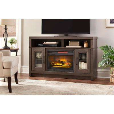 gray oak home decorators collection fireplace tv stands wsfp54hd 31 64 400 pressed