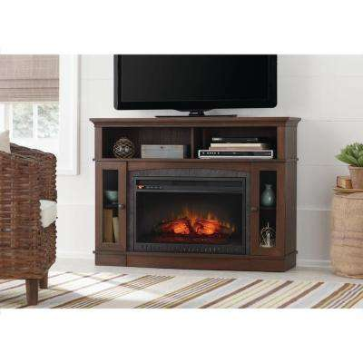 brown walnut home decorators collection fireplace tv stands wsfp46echd 8 64 400 pressed
