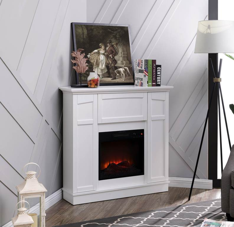 bold flame corner electric fireplace tv stand