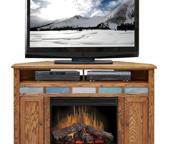 "Corner Entertainment Centers with Fireplace Beautiful Lg Oc5102 Oak Creek 56"" Fireplace Corner Tv Stand"