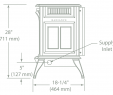 Corner Fireplace Dimensions Lovely Radiance Direct Vent Gas Stoves by Vermont Castings
