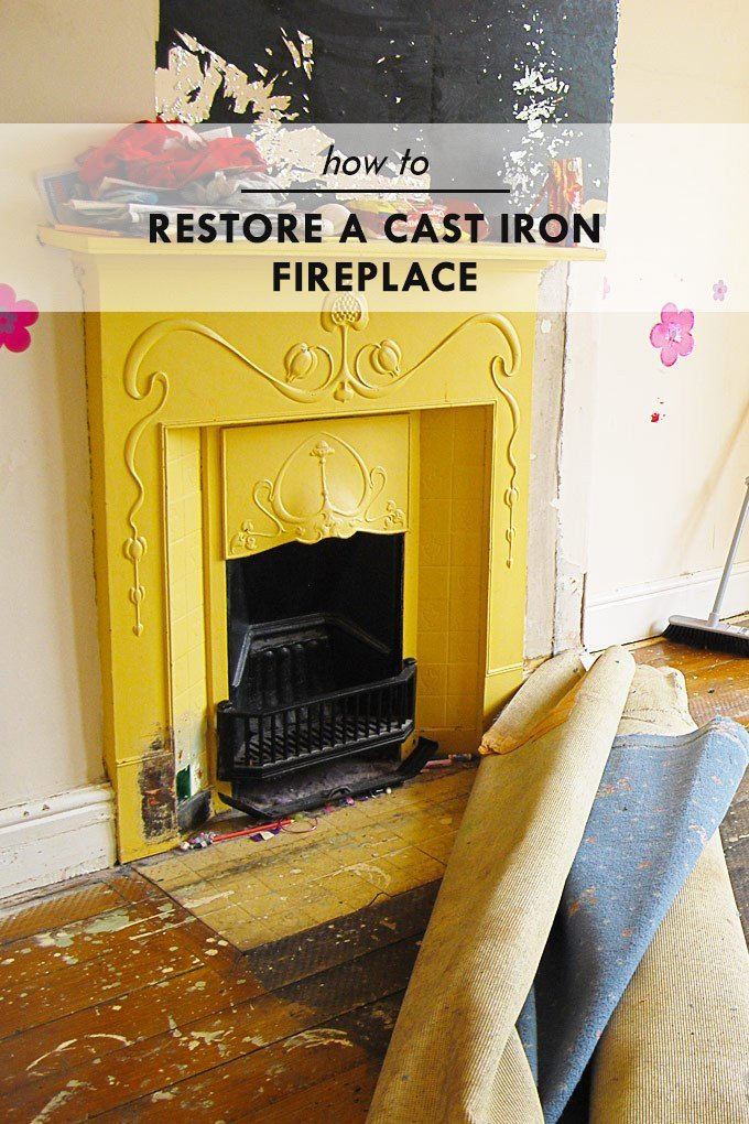 How To Restore A Cast Iron Fireplace Edwardian and Victorian Fireplace Restoration Little House The Corner
