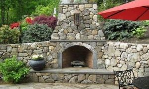 13 Lovely Corner Outdoor Fireplace