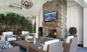 26 Luxury Covered Deck with Fireplace