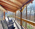 Covered Deck with Fireplace Inspirational Secluded Log Cabin W Waterfall Stone Fireplace & Mountain