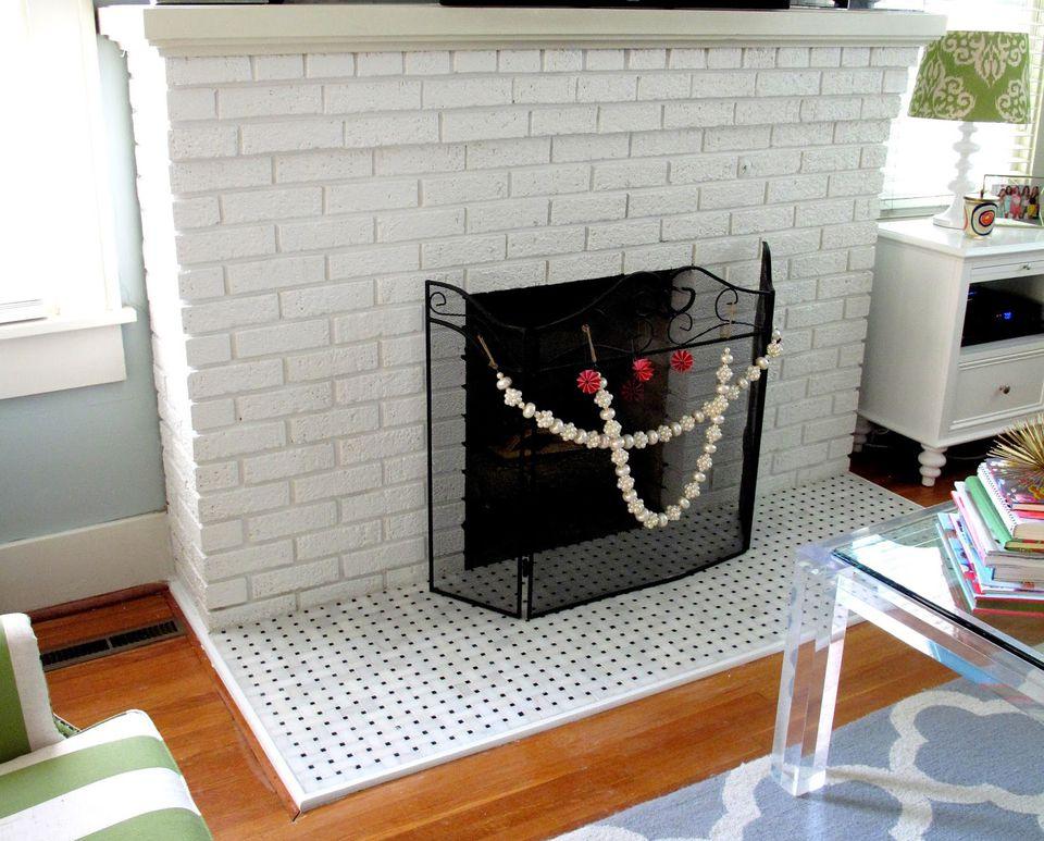 fin 2 tile hearth brick fireplace 59ee de ec935f