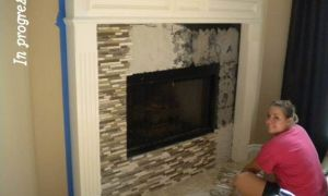 25 New Covering Brick Fireplace with Tile