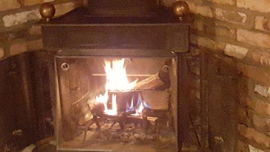 our warm cozy fireplace