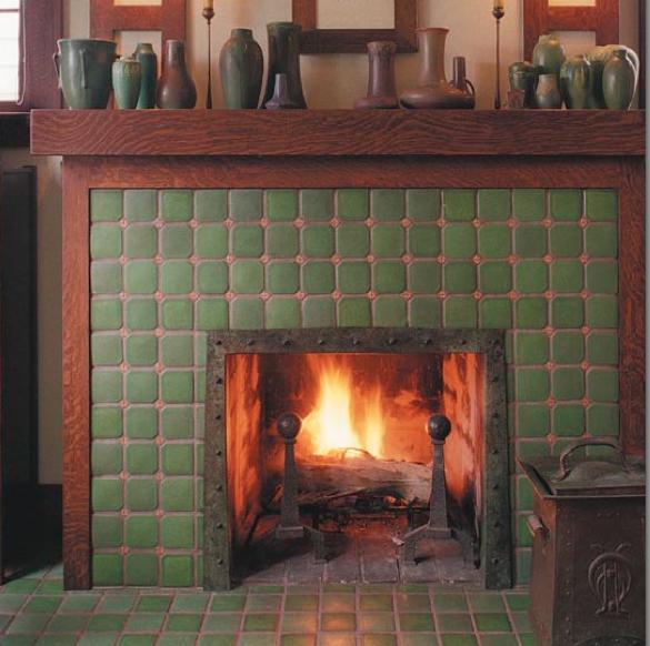 Craftsman Fireplace Tile Elegant Craftsman Fireplace Tile I Like the Wood Trim Around the