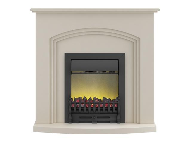 adam truro fireplace suite in cream with blenheim electric fire in black 41 inch