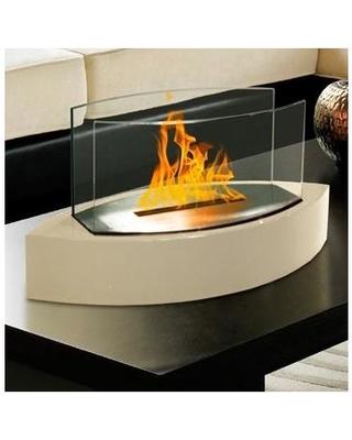 orren ellis craddock bio ethanol tabletop fireplace w color beige