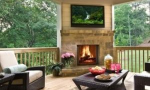 30 Unique Deck with Fireplace