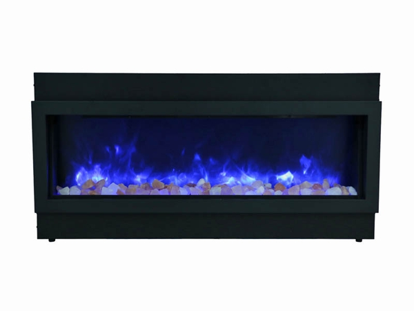 amantii 40 inch panorama deep built in electric fireplace with black surround 14