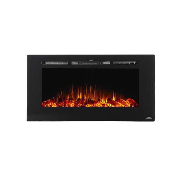 Annetta Recessed Wall Mounted Electric Fireplace