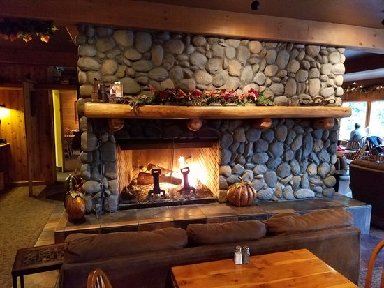 dual side fireplace in