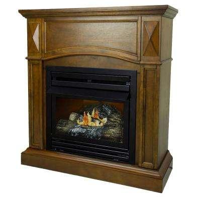 heritage oak pleasant hearth ventless gas fireplaces vff ph20lp 64 400 pressed