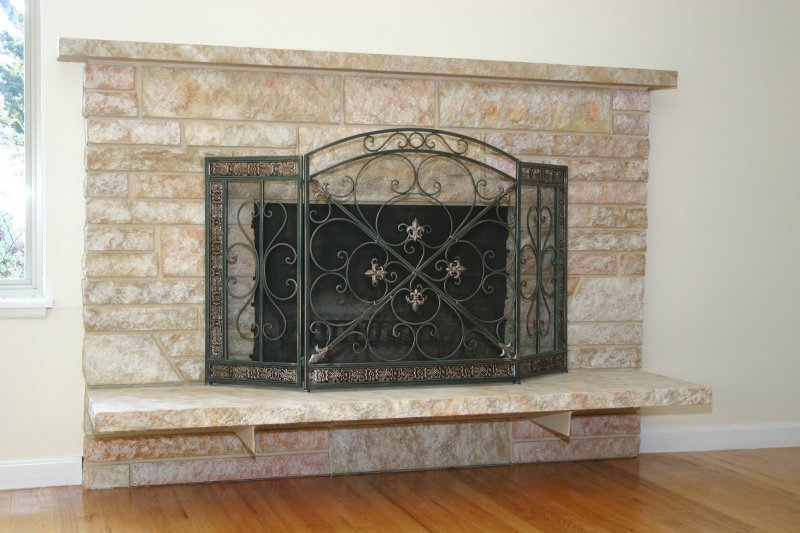 restoring stone fireplace food wine and home JPG